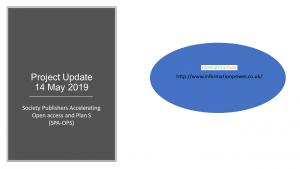 This is an image of the first slide from the project update webinar powerpoint deck. It shows the Information Power logo and URL http://www.informationpower.co.uk/